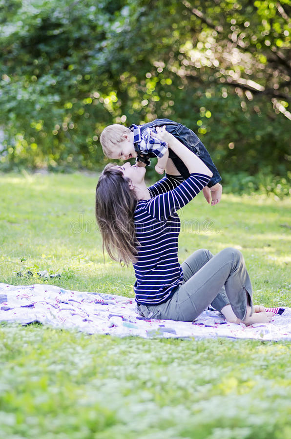 Mother and baby boy royalty free stock image
