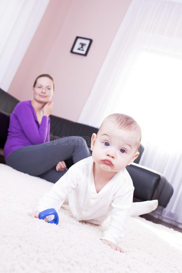 Download Mother And Baby Boy To Play. Stock Image - Image: 20456287