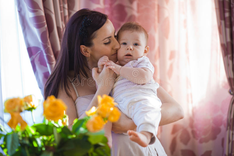 Download Mother with baby stock photo. Image of childhood, little - 34369424