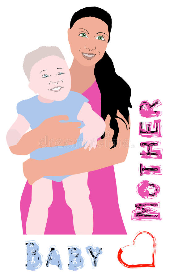 Download Mother and baby stock vector. Image of cradle, child - 41152471