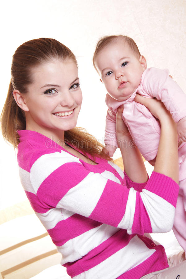 Download Mother and baby at home stock image. Image of motherhood - 24119801