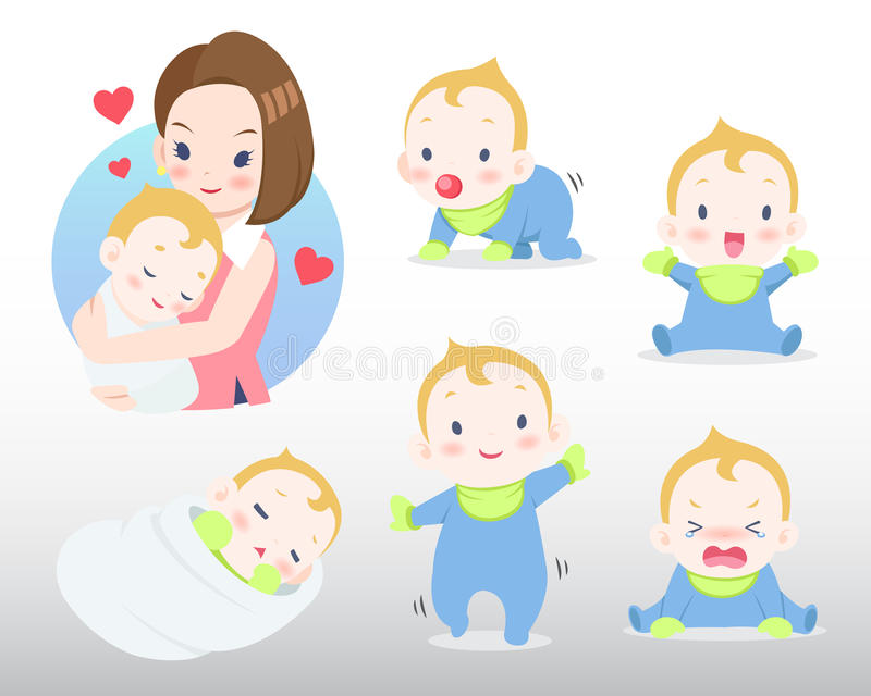 Mother and Baby Illustration stock photo