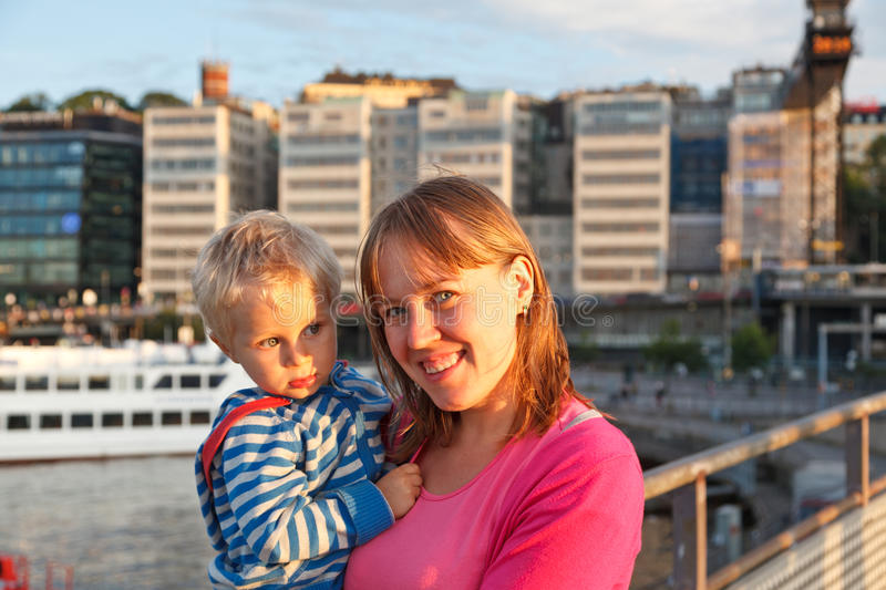 Download Mother And Baby In The Port Stock Photo - Image of canal, little: 26212586