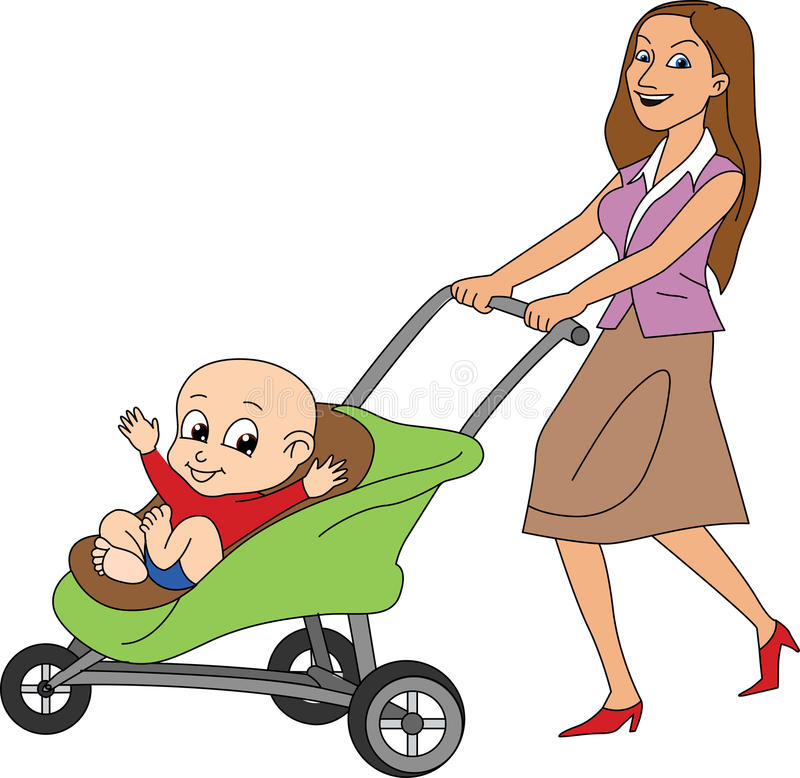 Mother with a Baby vector illustration