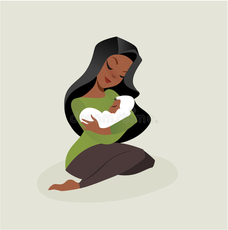Mother and baby. Vector illustration flat style vector illustration