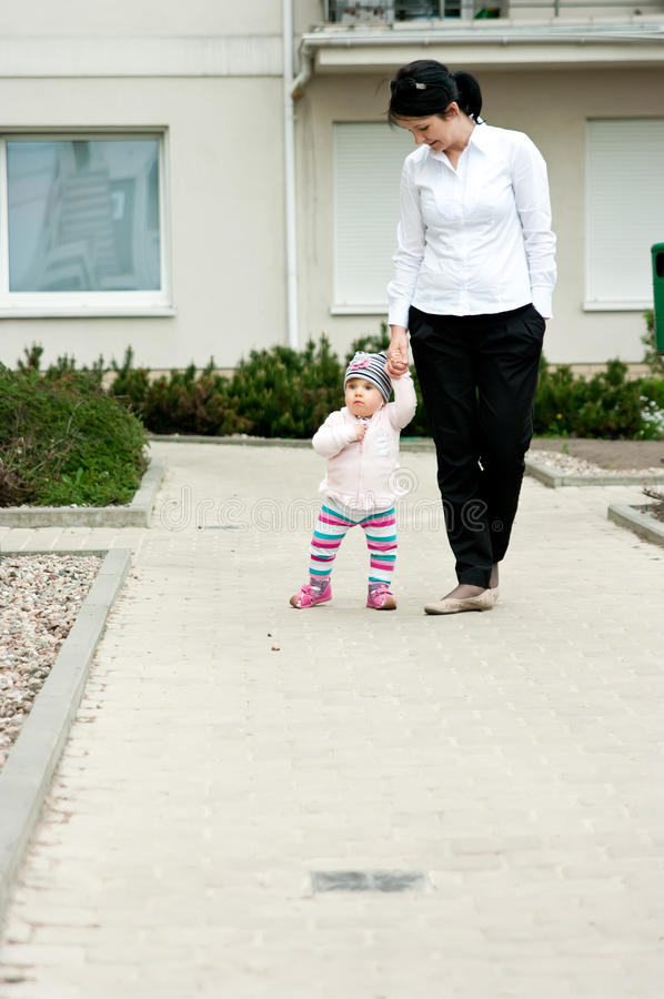 Download Mother and baby walk stock image. Image of support, outdoors - 19692307