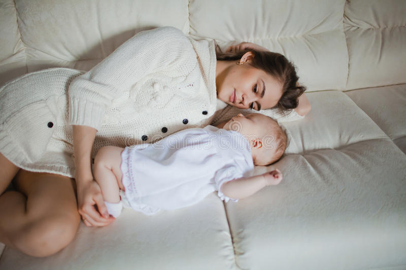 Download Mother with baby stock image. Image of baby, indoors - 34368889