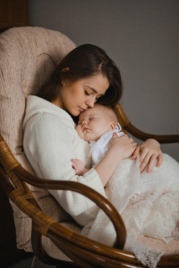 Download Mother with baby stock image. Image of affectionate, house - 34368953
