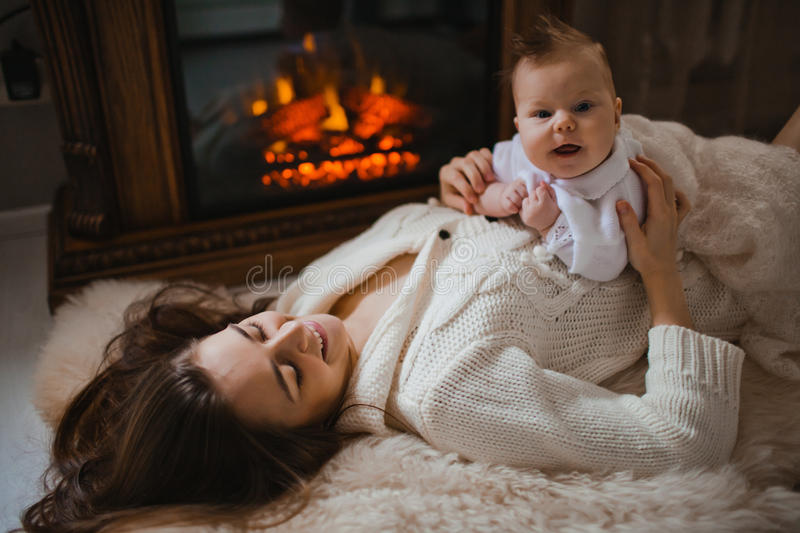 Download Mother with baby stock image. Image of embracing, child - 34369039