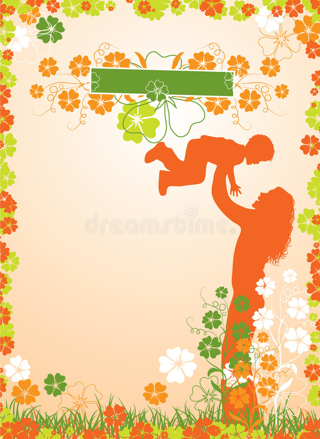 Mother background, vector royalty free illustration