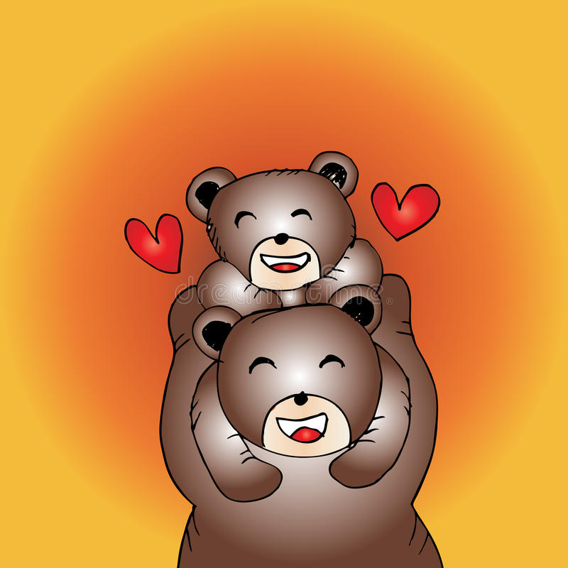 Download Mother Bear And Baby Stock Illustration Of Happiness
