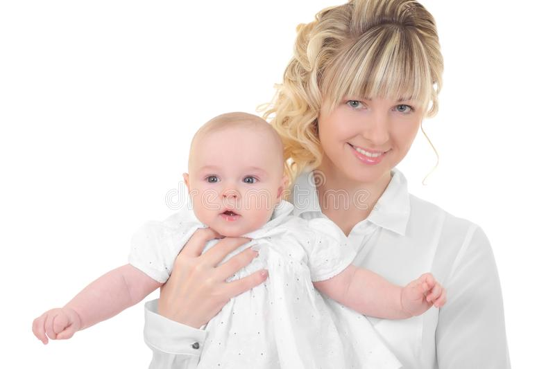 Mother breast feeding her child royalty free stock photos