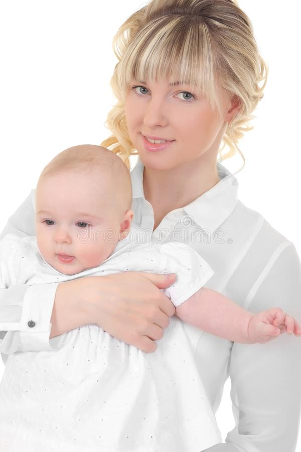 Mother breast feeding her child stock photography
