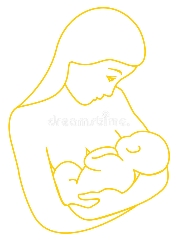 Mother breastfeeding her baby stock photos