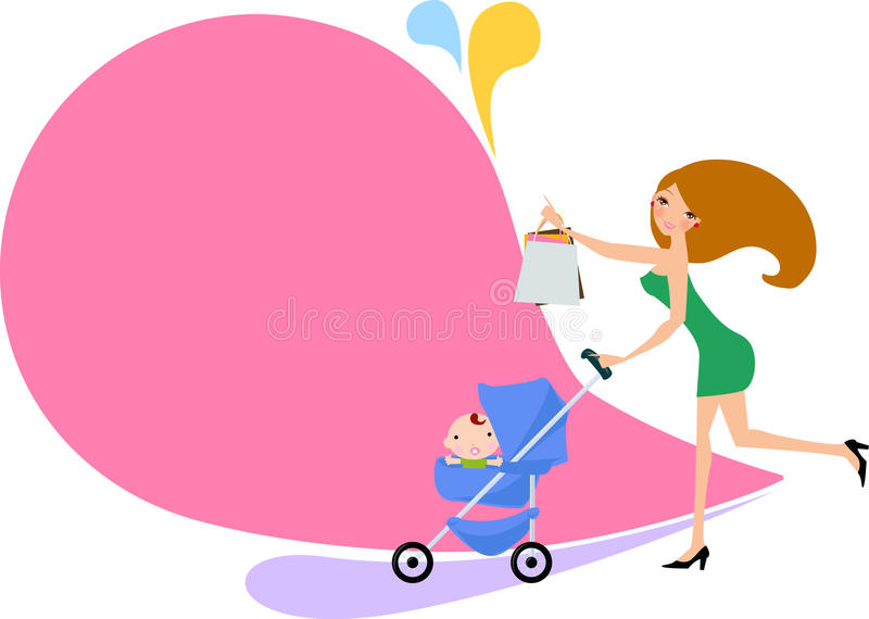 Download Mother With A Carriage Stock Image - Image: 33591431