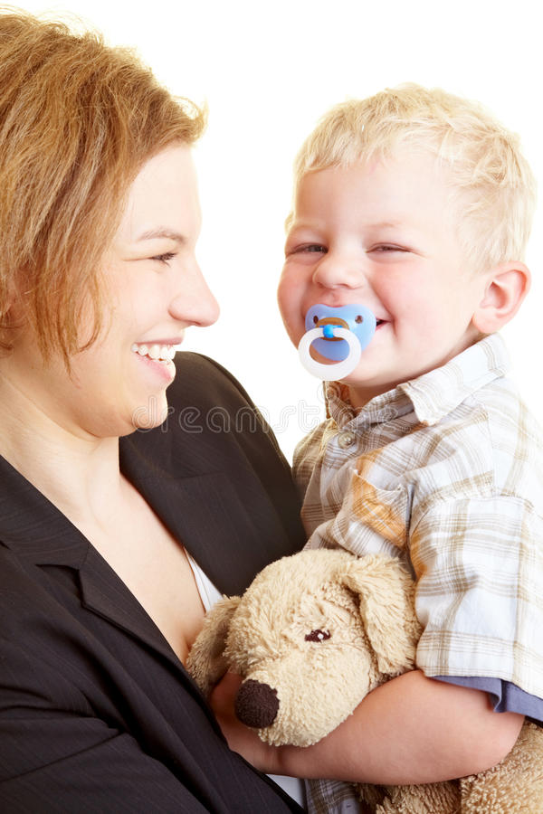 Download Mother carrying child stock image. Image of pleasure - 10412163