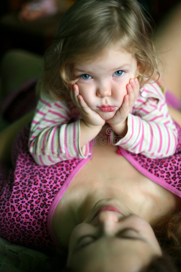 Download Mother and child stock photo. Image of baby, expression - 12006768