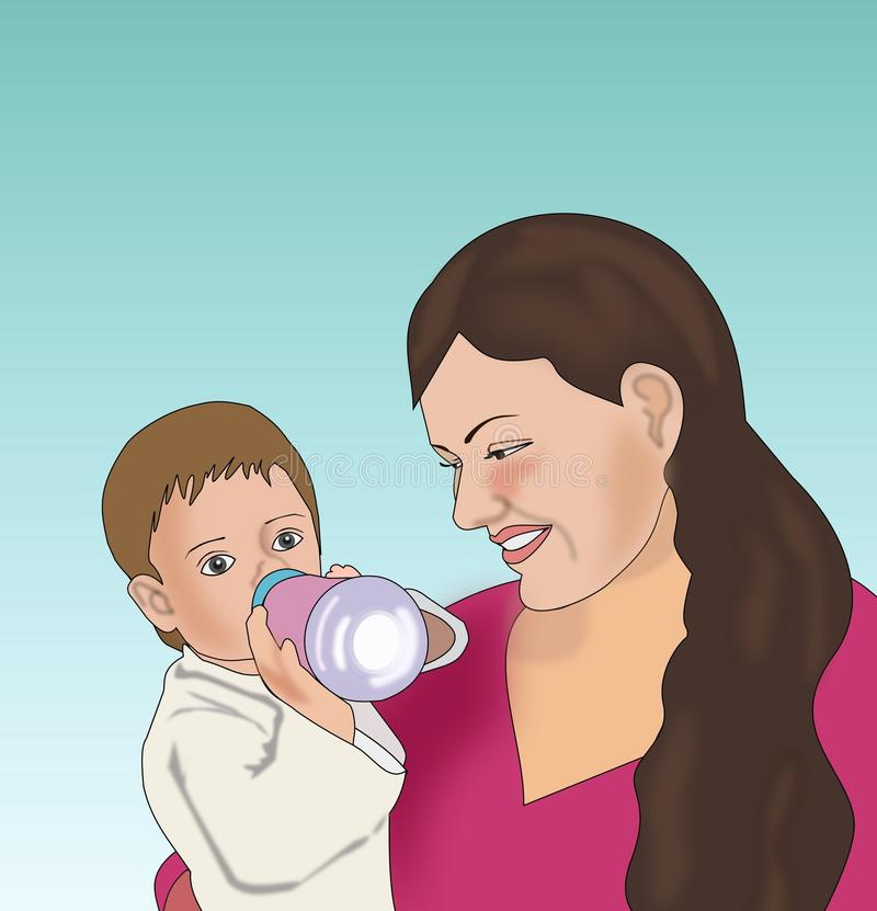 Download Mother and Child stock illustration. Image of feminine - 13158088