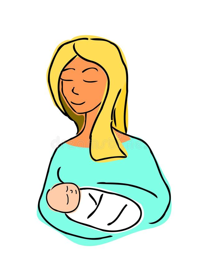 Download Mother and child stock vector. Illustration of childbearing - 17837521