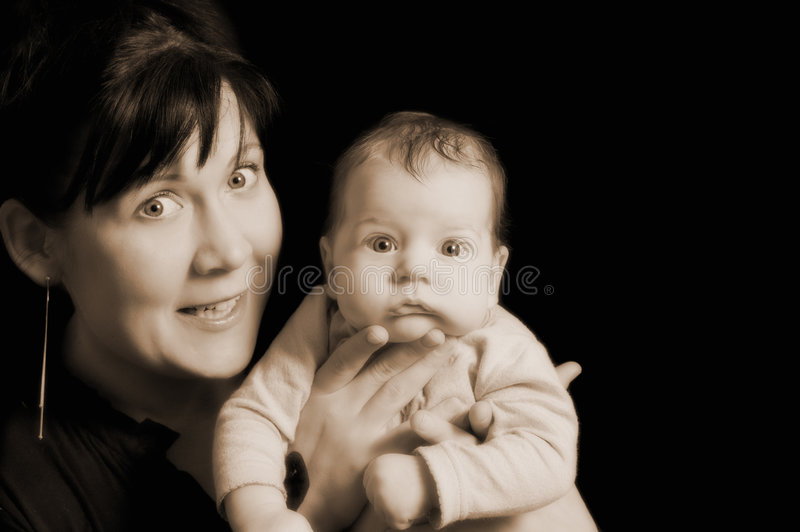 Download Mother and child stock photo. Image of newborn, eyes, clean - 1885146