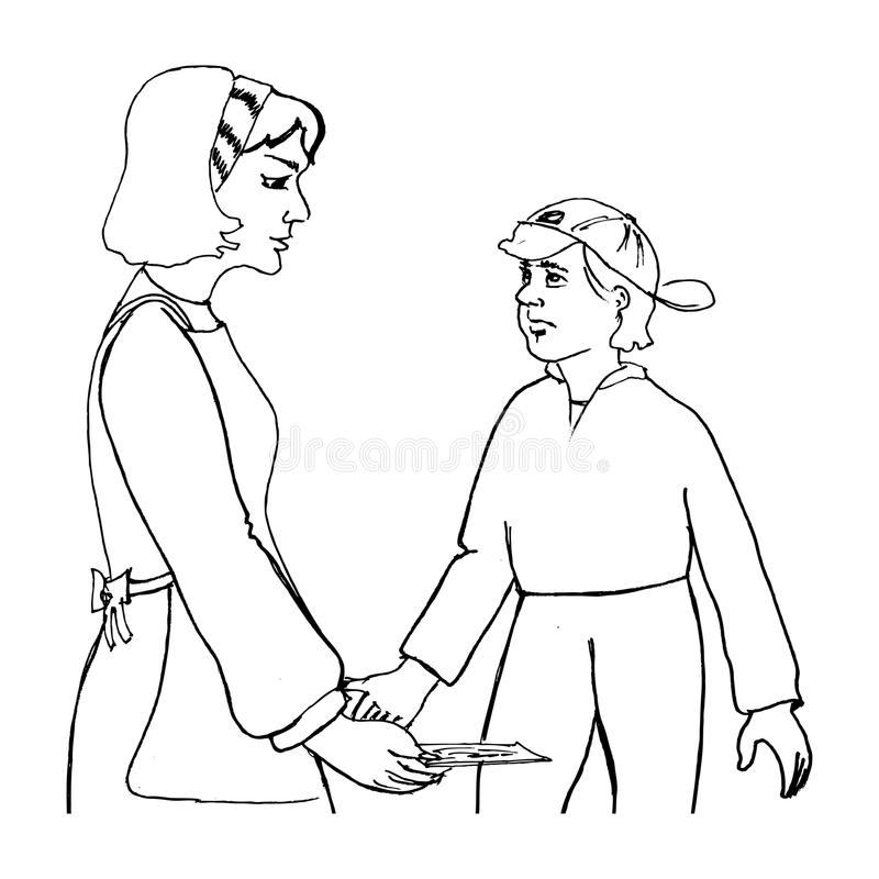 Download Mother and child stock illustration. Illustration of mother - 22802202