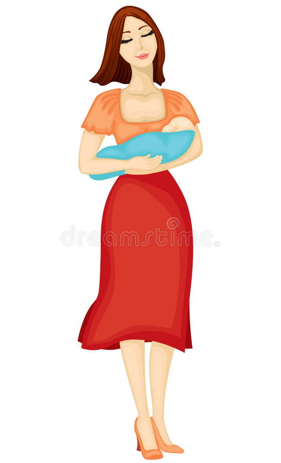 Download Mother with child stock vector. Image of newborn, care - 25405090