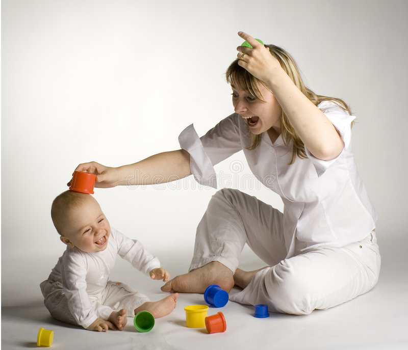 Mother with child stock image