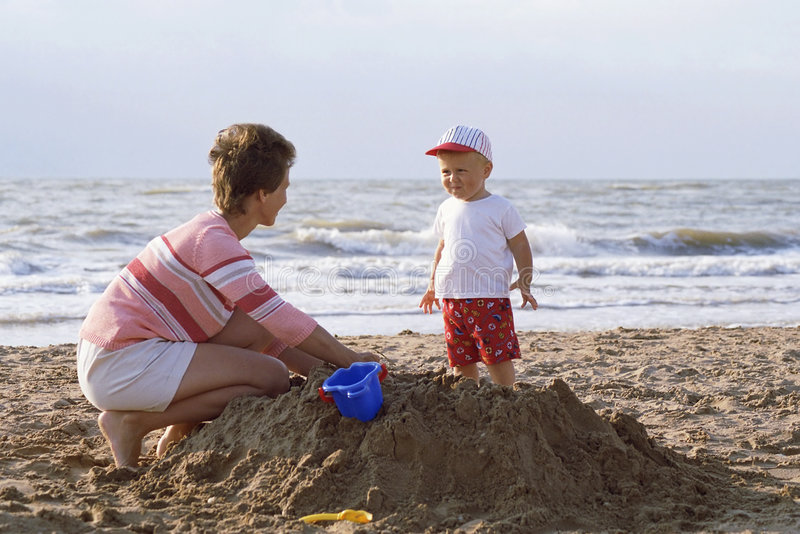 Download Mother And Child On A Beach Stock Images - Image: 662284