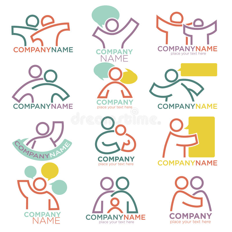 Mother and child care vector icons for parental orphan organization stock illustration