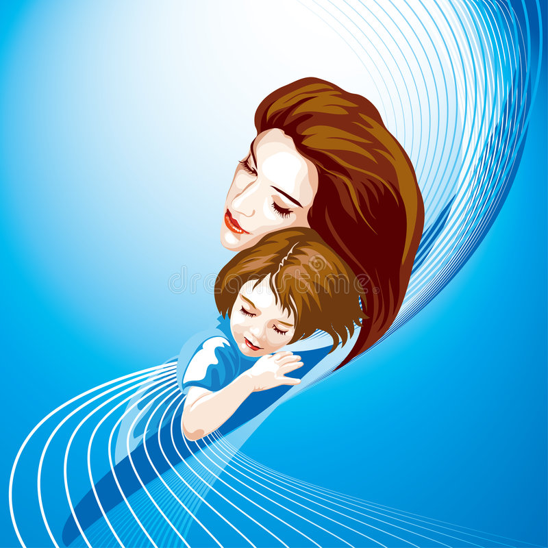 Download Mother And Child, Colored Stock Images - Image: 4975374