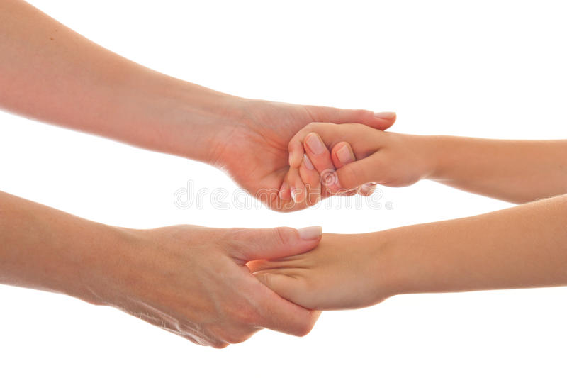 Mother and Child giving both hands stock photography