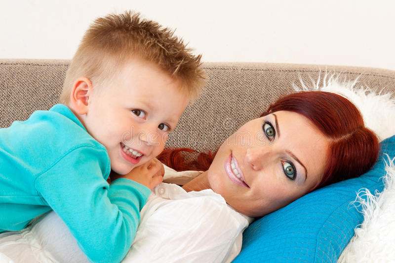Mother and Child hugging royalty free stock image