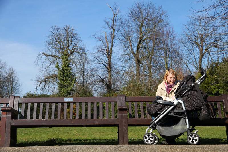 Mother With Child In The Park Royalty Free Stock Images