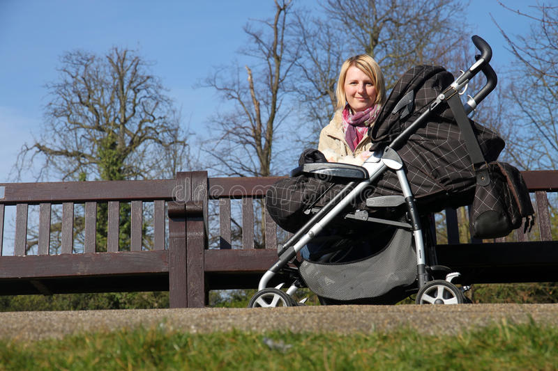 Mother With Child In The Park Stock Photography