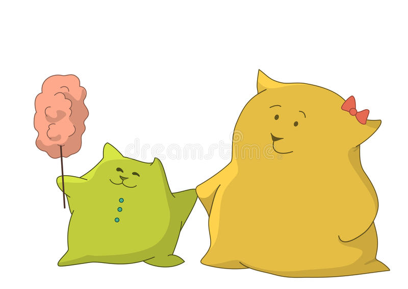 Download Mother And Child Pillows With Candyfloss Stock Photography - Image: 14509412