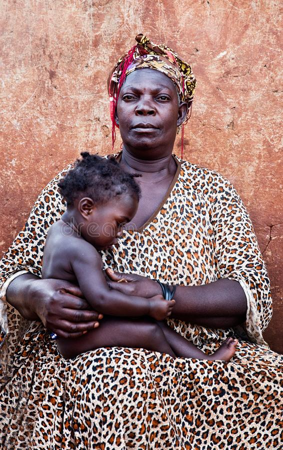 Mother and child in Uganda royalty free stock photos