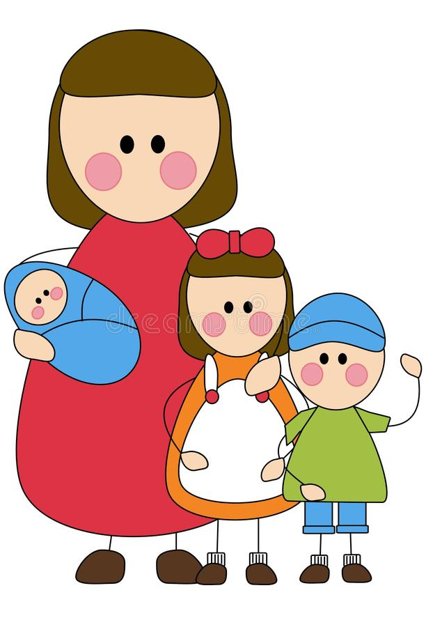 Download Mother and children stock illustration. Image of family - 11975697