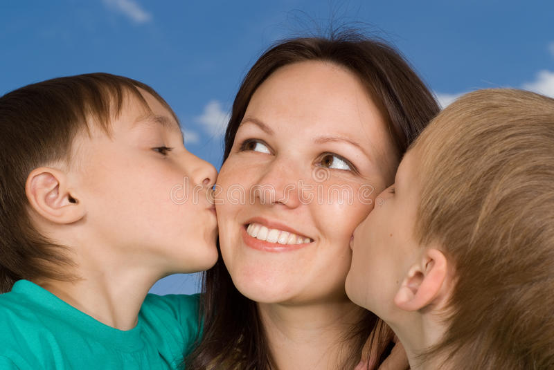 Download Mother with children stock photo. Image of people, enjoy - 15201088