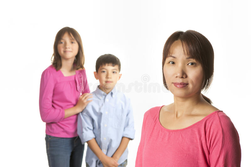 Mother and children. stock image