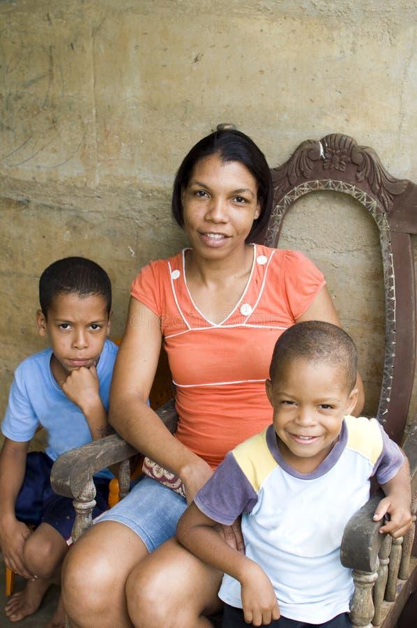 Mother children Nicaragua Corn Island stock photography