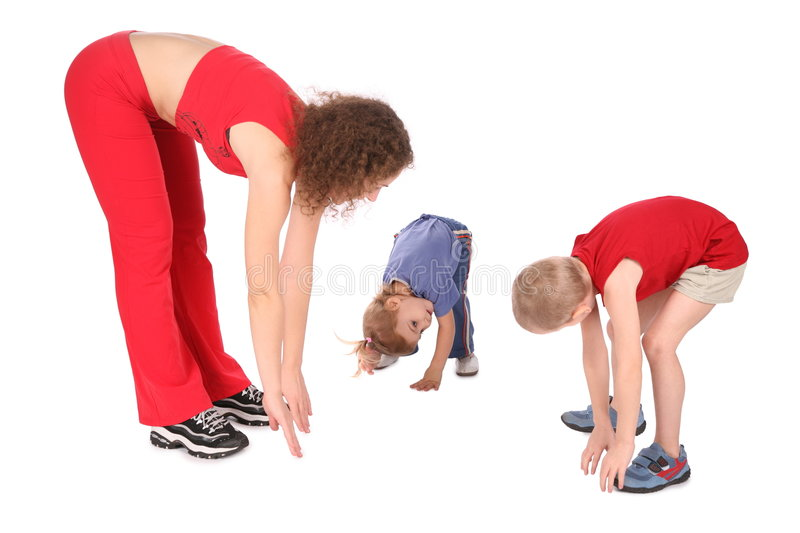 Download Mother And Children Training 2 Stock Image - Image: 4118333