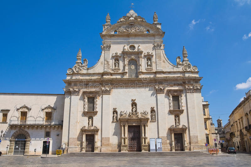 Mother church. Galatina. Puglia. Italy. stock photo