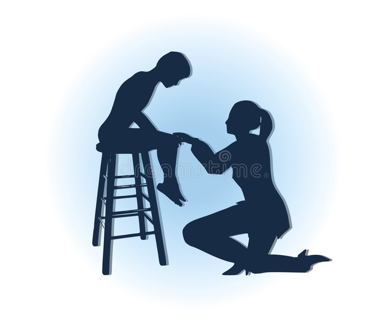 Mother Comforting Sad Son Royalty Free Stock Image