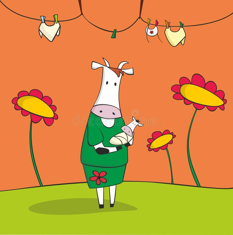 Free Mother Cow Royalty Free Stock Photo - 28839835