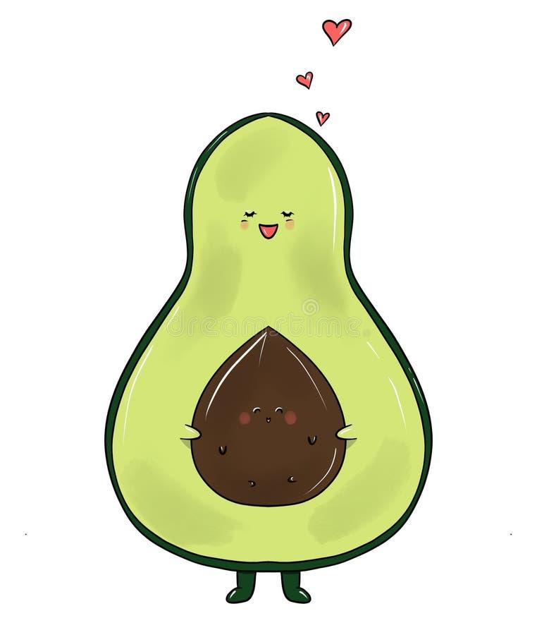 Avocado family royalty free illustration
