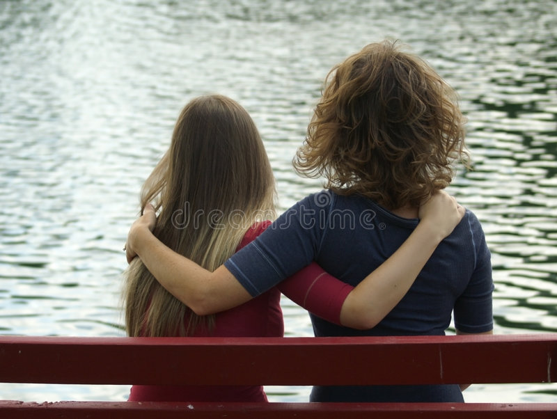 Mother Daugher Friendship stock photography