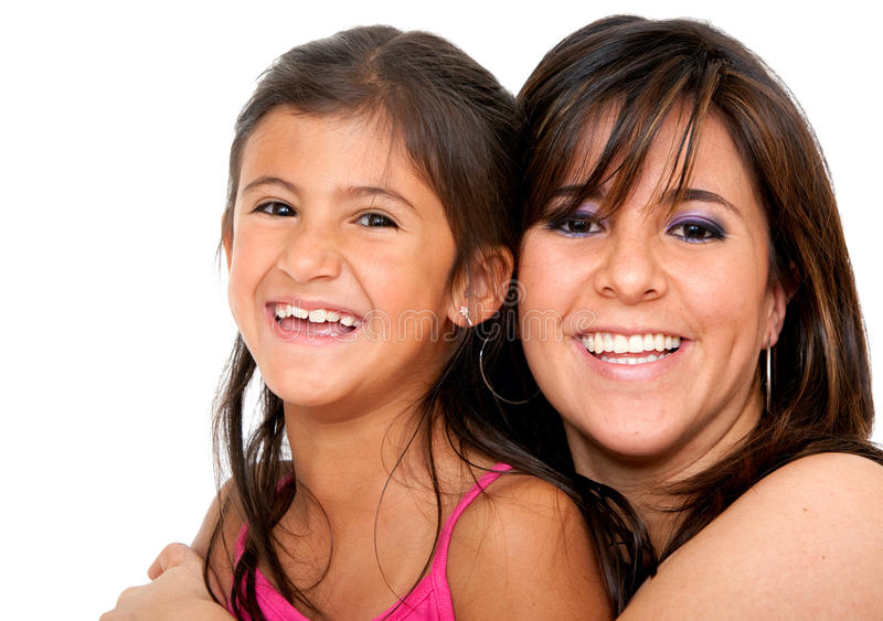 Download Mother and daughter stock photo. Image of isolated, beautiful - 12310844