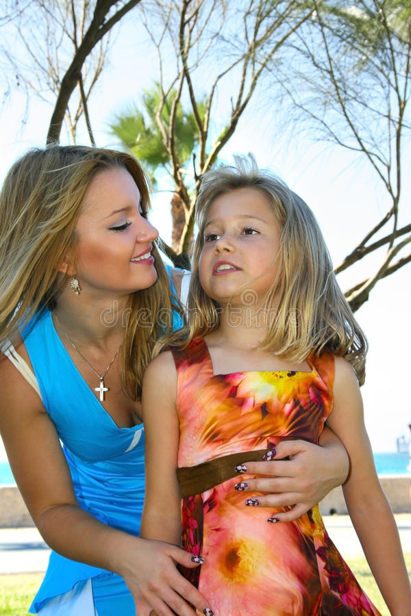 Mother and daughter royalty free stock photos