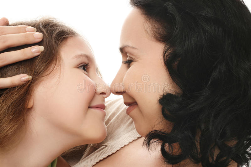Download Mother and daughter stock image. Image of isolated, embrace - 14965711