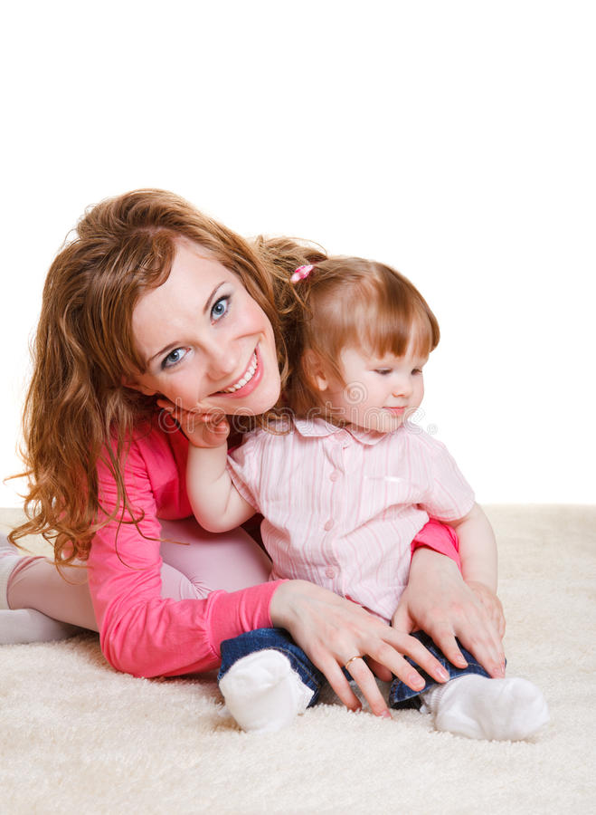 Download Mother and  daughter stock image. Image of little, loving - 15015535